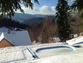 Let´s ski or go for a walk along the sunny side Jizera mountains ...