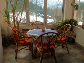 Enjoy breakfast in the romantic view of the valley Jizera mountains ...